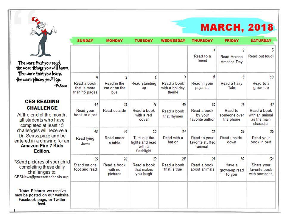 CES March Reading Challenge