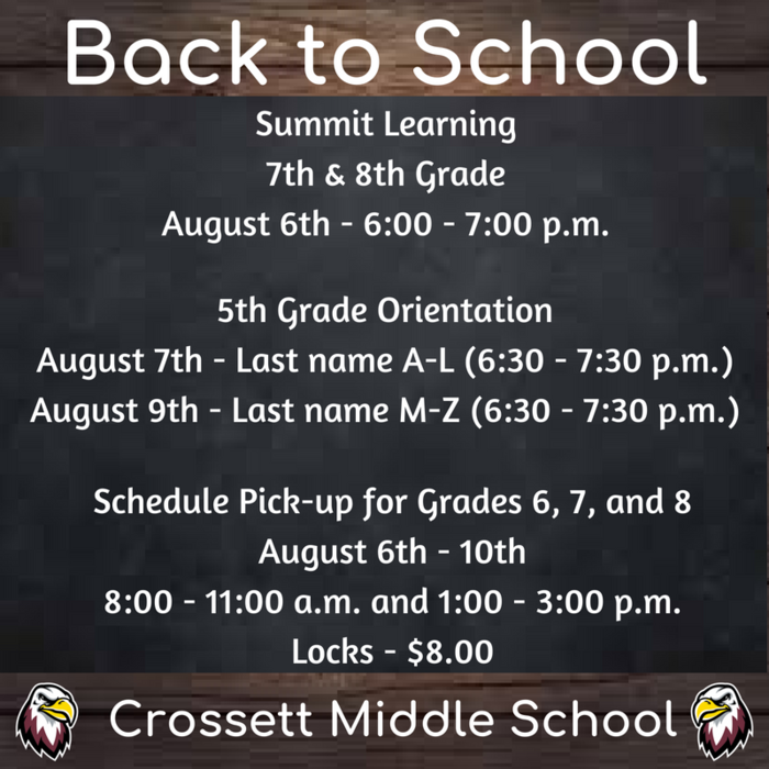 CMS Open House Dates