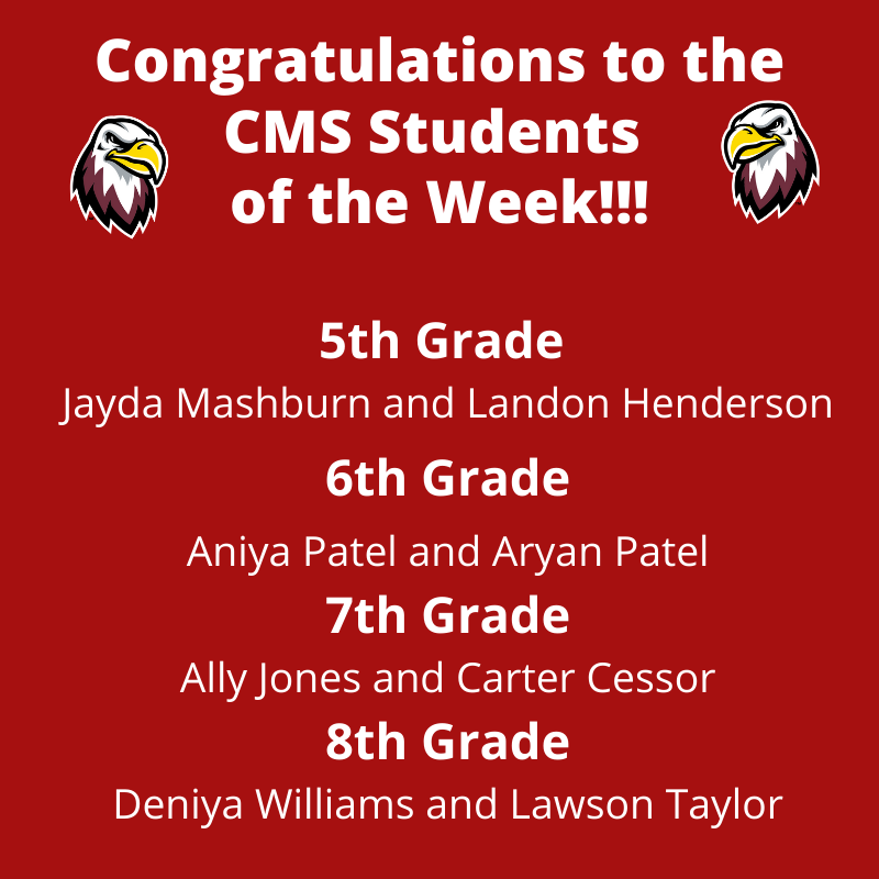 CMS Students of the Week