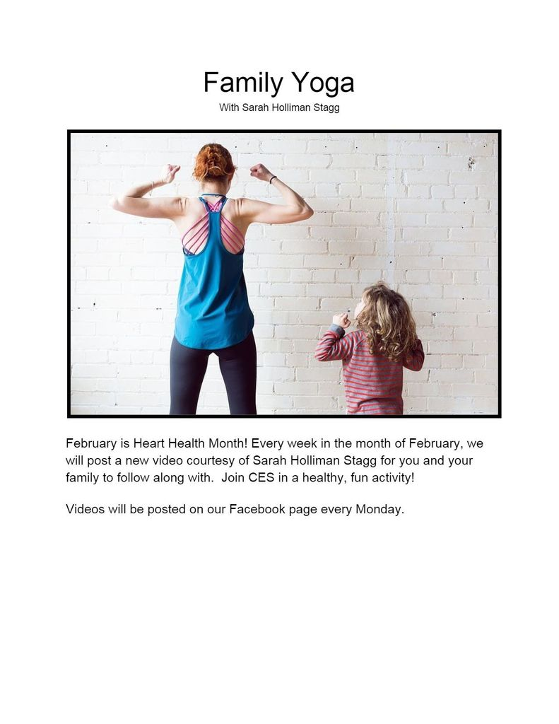 Heart Health Month Yoga Flier