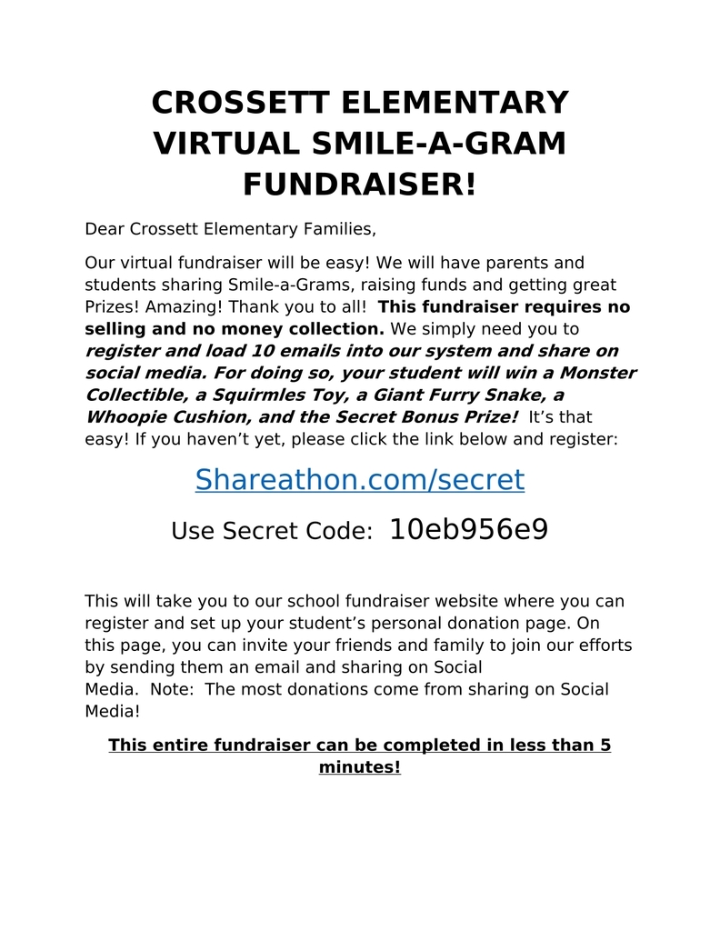 Information Letter for Shareathon
