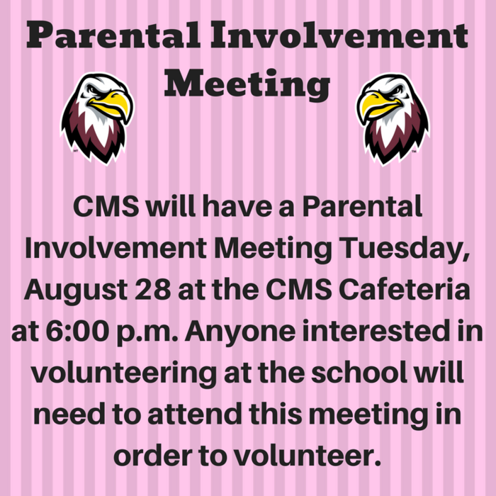 Parental Involvement Meeting