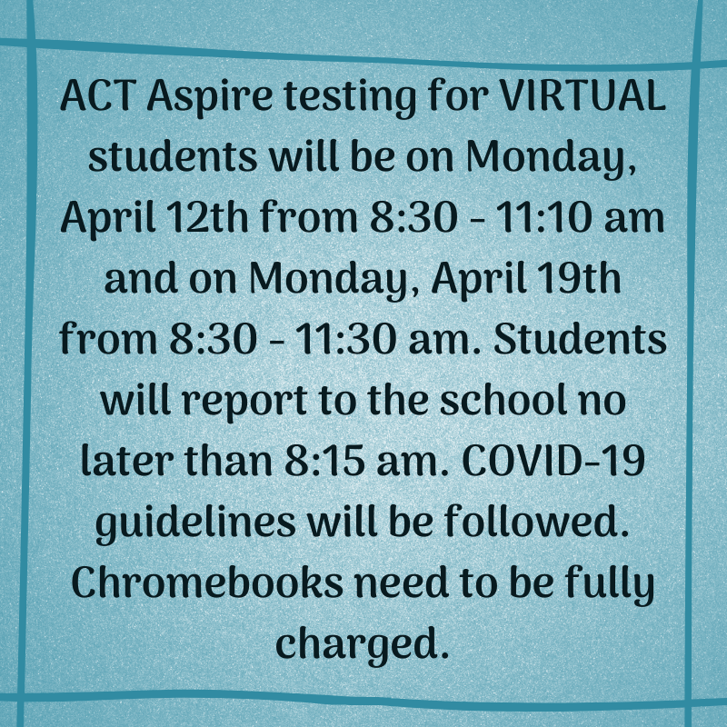 Virtual Testing for ACT Aspire