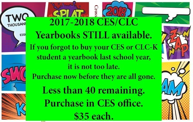 2017-2018 Yearbooks available.