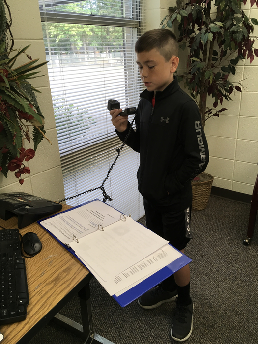 Cash Forrest Morning announcements and pledges