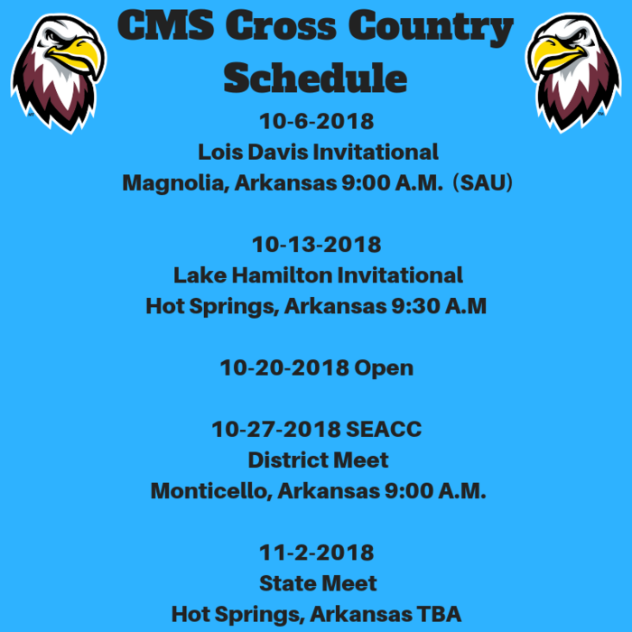 CMS Cross Country Schedule