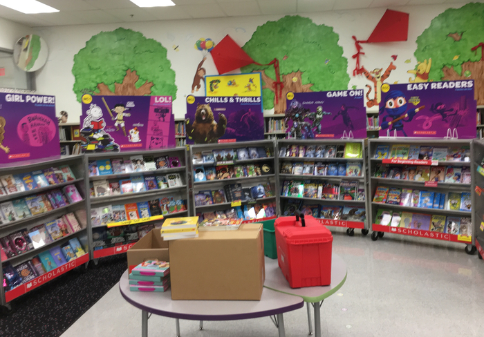 Book fair set up