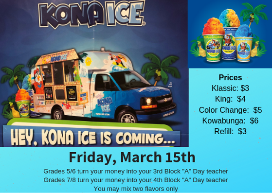 Kona Ice March 15th