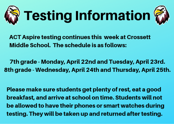 ACT Aspire Testing Information