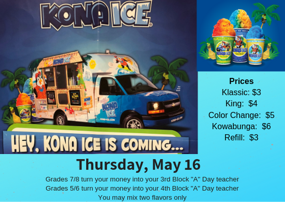 Kona Ice May 16th