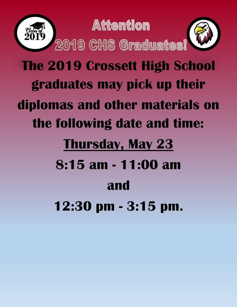 2019 CHS Graduate Announcement