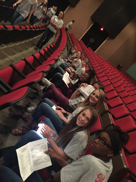 CMS FBLA waiting for the conference to start