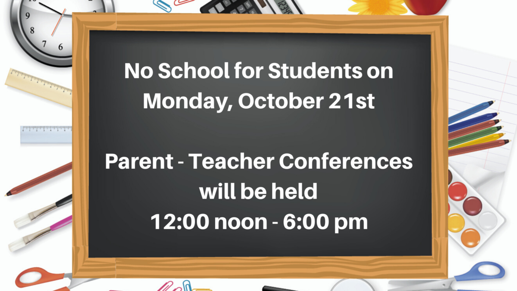 No School - October 21, 2019