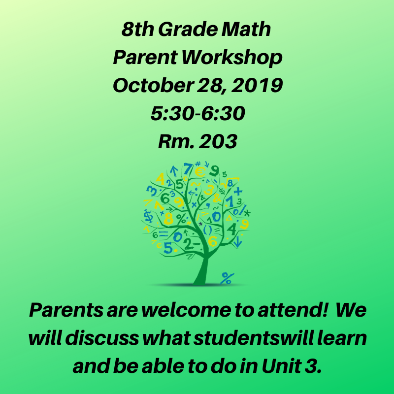 8th Grade Parent Math Night