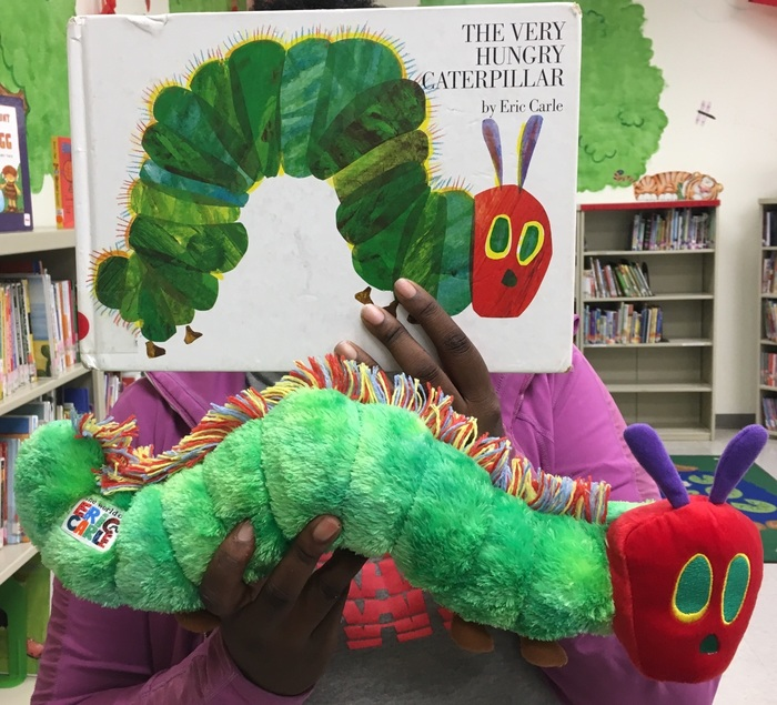 Who's this fan of The Very Hungry Caterpillar?