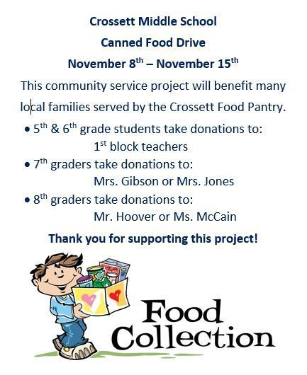 CMS Canned Food Drive