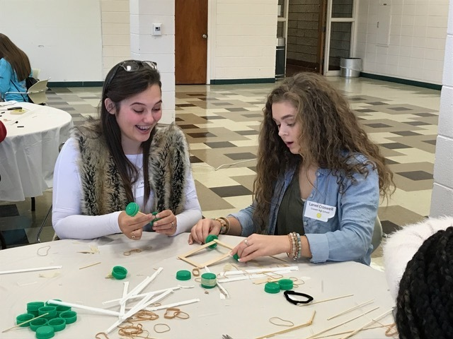 CHS girls participating in UAM STEM Conference.
