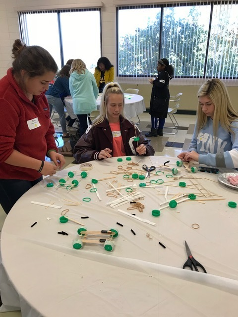 CHS girls participating in the UAM STEM Conference today.