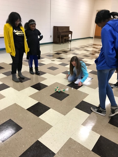CHS girls participating in the UAM STEM conference.