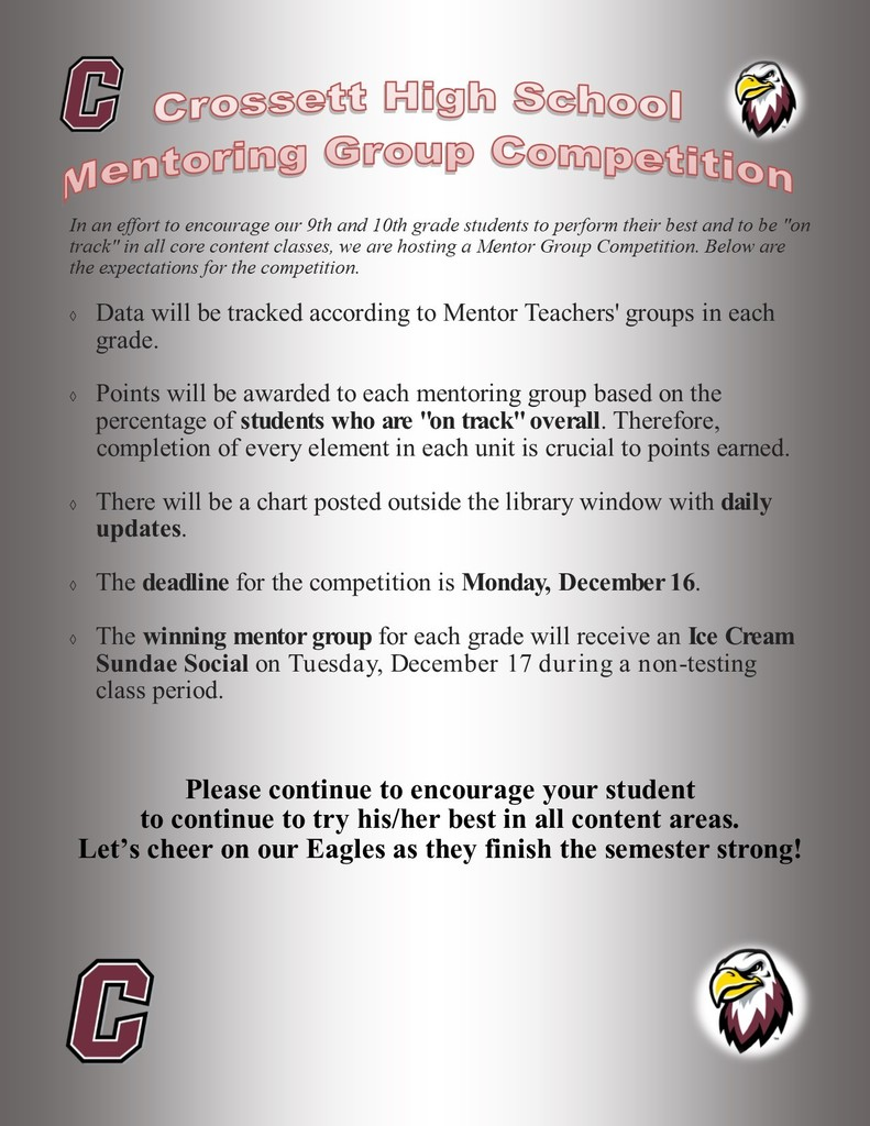 CHS Mentoring Group Competition: Cheer on the Eagles!