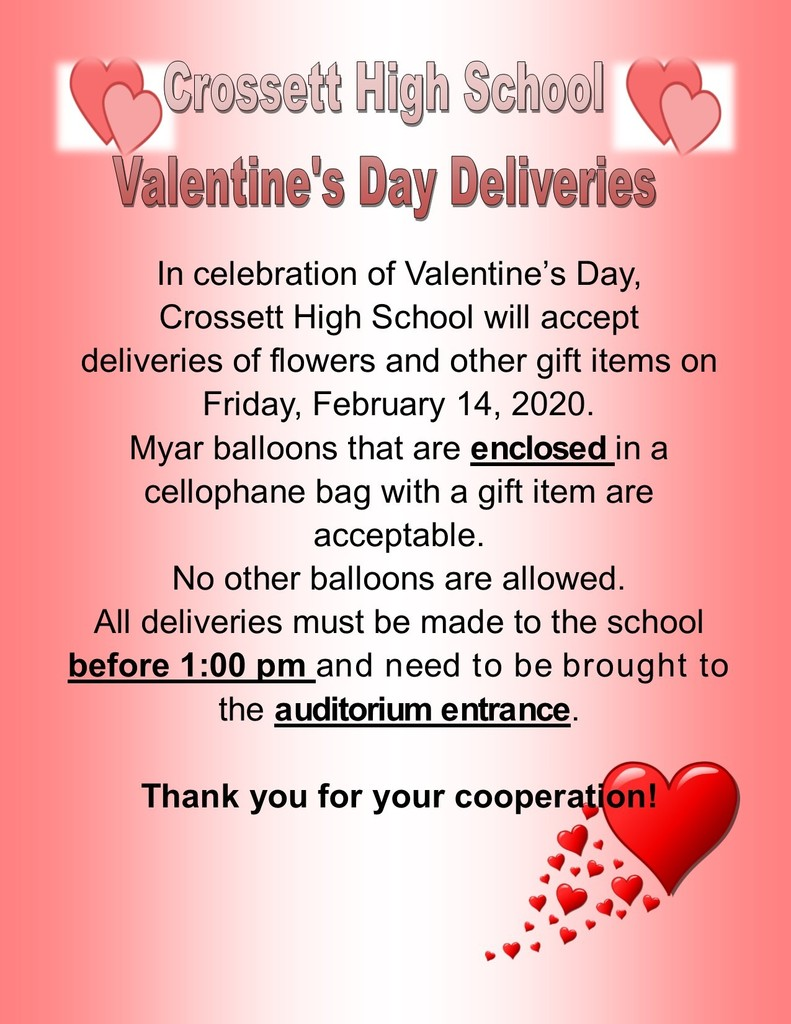 Valentine's Day Deliveries at CHS