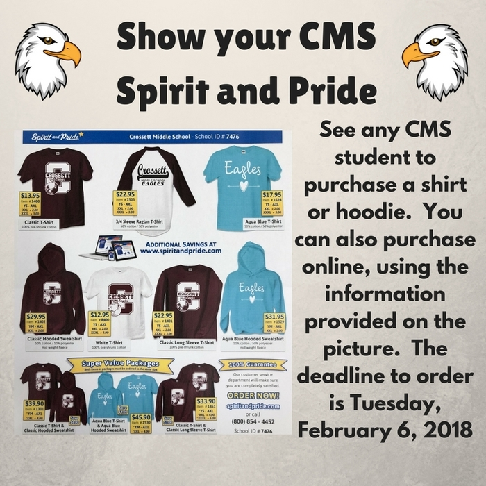 CMS Spirit and Pride Order