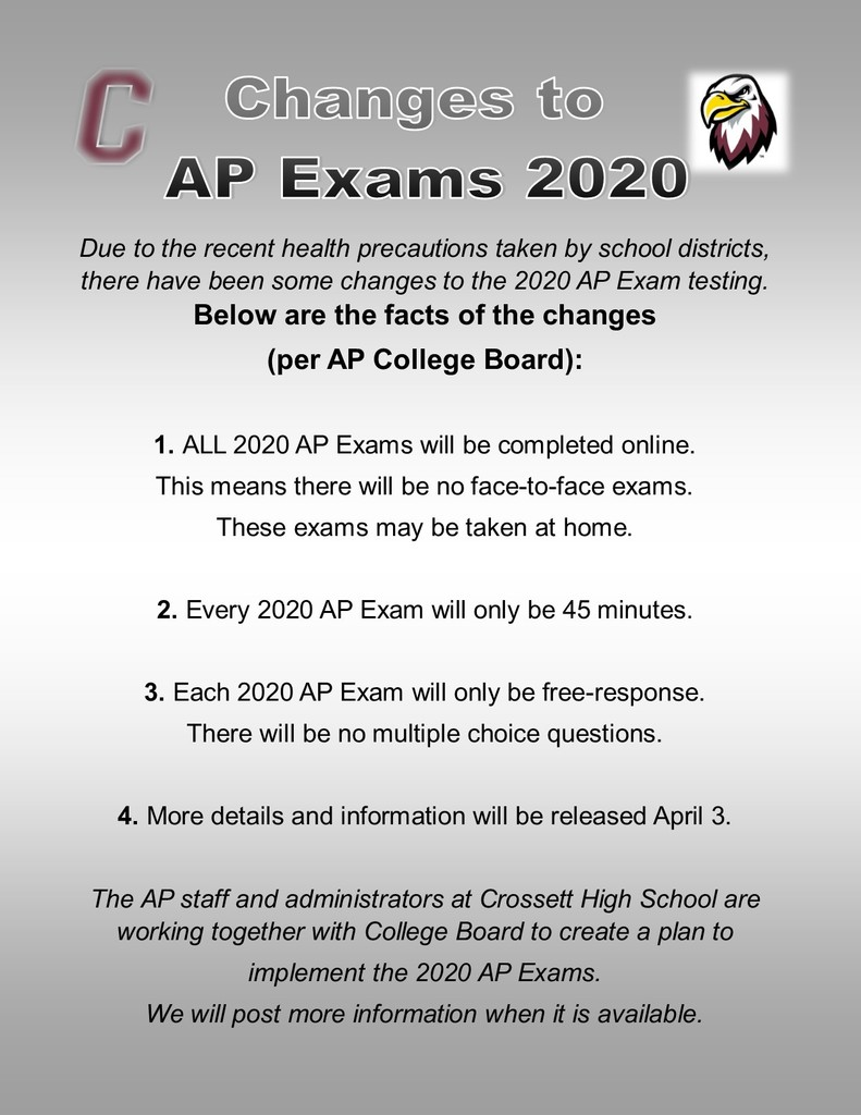 AP Exam Changes March 22