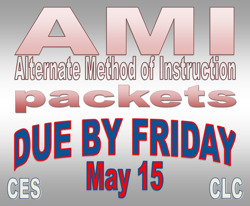 AMI packets due May 15