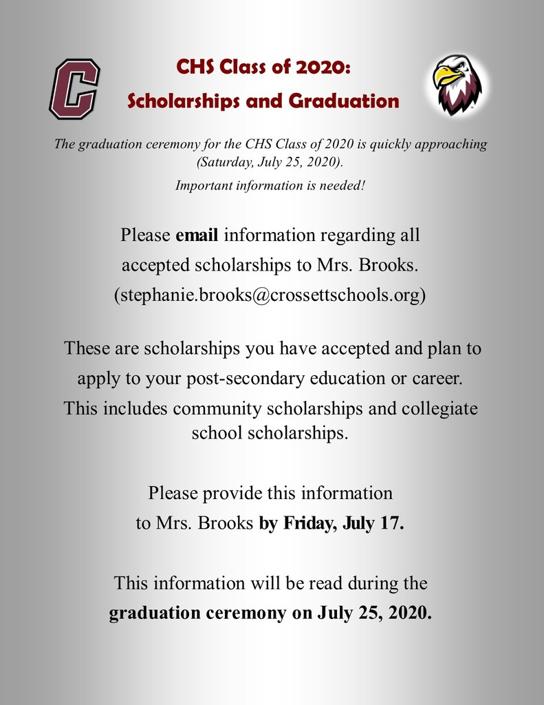 Scholarship Information Needed