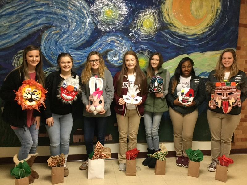 2017 Art I Tribal Mask Winners!